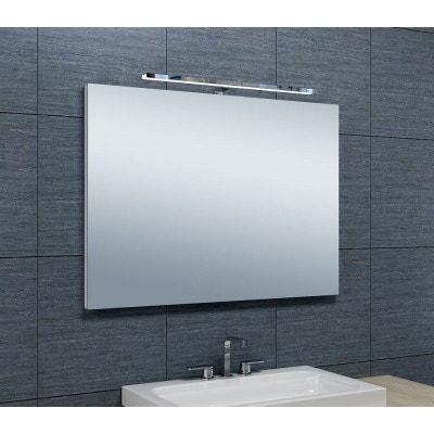 bu/ée et capteur 70 x 50 cm Warmiehomy Miroir de salle de bain lumineux moderne 60 LED avec /éclairage prise rasoir