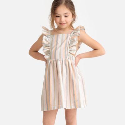 a43d3a5f25c Платье в полоску с воланами и открытой спинкой