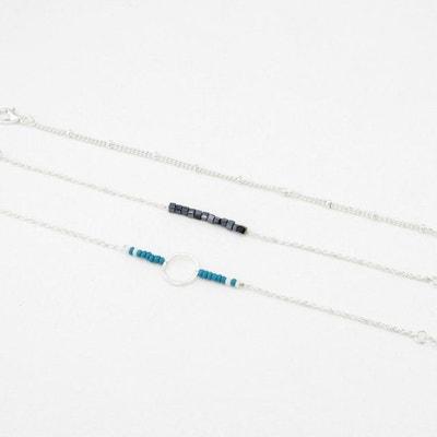 58fa6cffc13a Set de trois bracelets anneau perles de rocaille Set de trois bracelets  anneau perles de rocaille