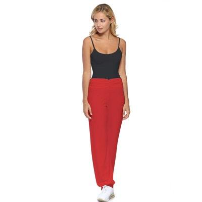 edeb05a1f1e29 Pantalon coupe fluide taille élastique avec fronces en maille modal SALLY  RENDEZ-VOUS PARIS