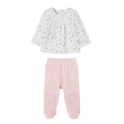 edb8adbf62850 Lot de 2 pyjamas bébé 2 pièces coton VERTBAUDET