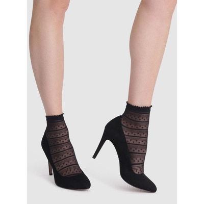 Socquettes Dim noir Rayures et Petites Etoiles DIM d1a90d1655d