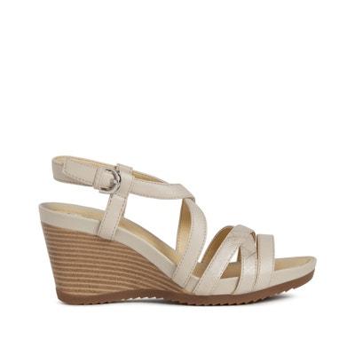Sandalen met sleehak, New Rorie Sandalen met sleehak, New Rorie GEOX