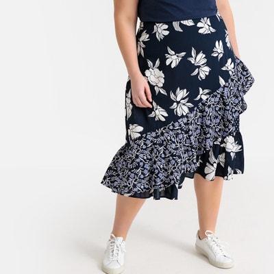 b793dc91087 Floral Patchwork Midi Ruffled Skirt Floral Patchwork Midi Ruffled Skirt  CASTALUNA PLUS SIZE