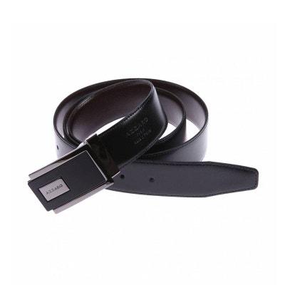 Ceinture ajustable en cuir réversible à boucle rectangulaire bicolore AZZARO 9249e252beb