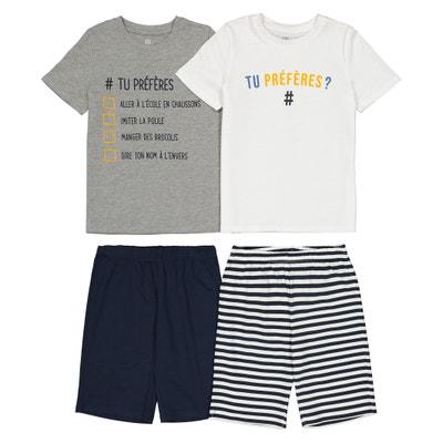 Confezione da 2 pigiama corti 3 anni-12 anni Confezione da 2 pigiama corti 3 anni-12 anni LA REDOUTE COLLECTIONS
