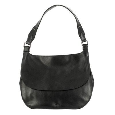 6ba98bf647d9 Sac pour femme porté Epaule Hivernal en Cuir Véritable sac Hobo souple avec  Clous et fermeture