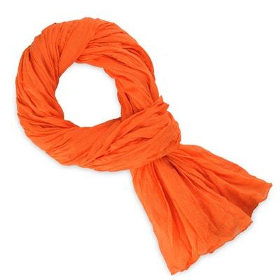 Chèche coton orange uni Chèche coton orange uni ALLEE DU FOULARD a673239bafd1