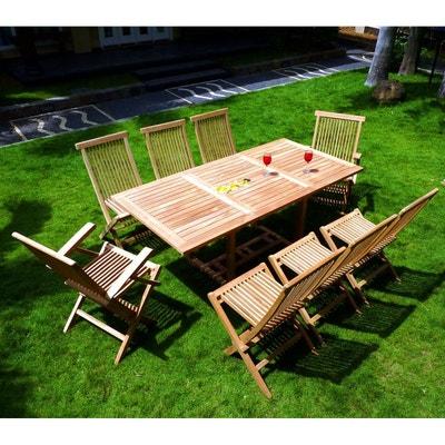 Salon de jardin en teck brut | La Redoute