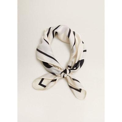 086239e5995 Foulard bicolore imprimé Foulard bicolore imprimé MANGO