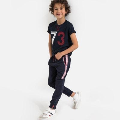 c52790e0c8c17 Jogpant zippé cheville motif côté 3-12 ans Jogpant zippé cheville motif  côté 3-
