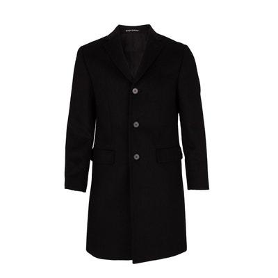 Manteau laine et Cachemire trois Quart Noir BREGAL PELCHAT d64d0c73f64
