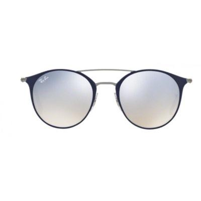 bfe36d278ef68 Lunettes de soleil mixte RAY BAN Bleu Marine RB 3546 90109U 49 20 RAY-
