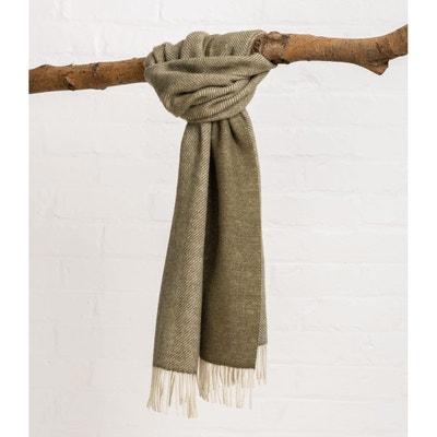 1a25ffcae467 Écharpe à motif chevrons pure laine WOOLOVERS