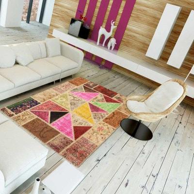 Tapis de Salon Moderne Design FM SCANDATRI PATCHWORK - Laine UN AMOUR DE  TAPIS c918f650b685