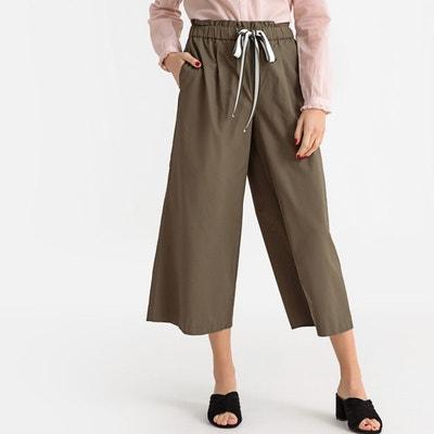 1a21149eb6f5 Pantalon femme jambe large en toile