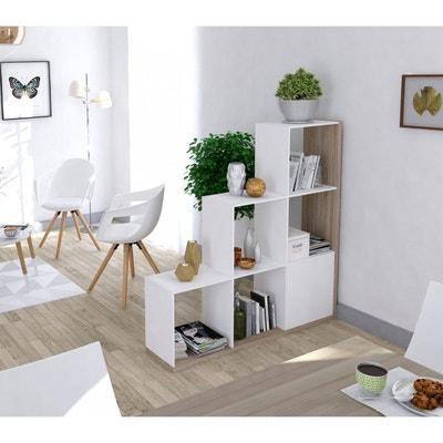Bibliothèque escalier imitation chêne, blanc TERRE DE NUIT b9414f79ed9e