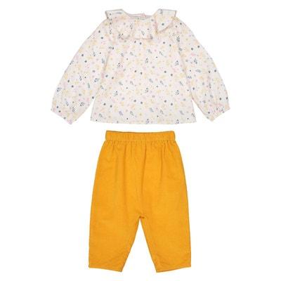 Ensemble 2 pièces blouse + pantalon 0 mois - 3 ans LA REDOUTE COLLECTIONS 98ba6cf0572