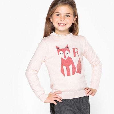 ccac2ff099492 Fox Print Fine Knit Jumper Sweater