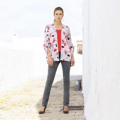 sports shoes 3f6c3 edd3c Veste kimono, coupe ample, imprimé floral Veste kimono, coupe ample,  imprimé floral
