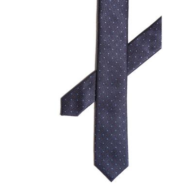 86192f5038d Cravate soie marine points ciel CARNET DE VOL. «