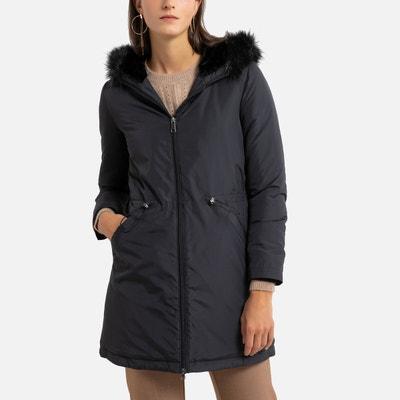 Manteau très long noir femme   La Redoute