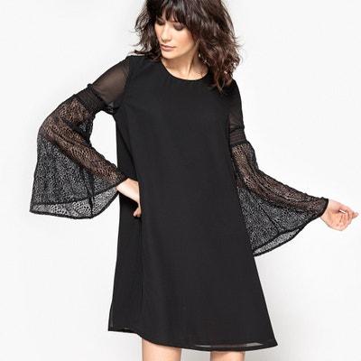 0efa1380b2eed6c Платье с прозрачными рукавами Платье с прозрачными рукавами LA REDOUTE  COLLECTIONS