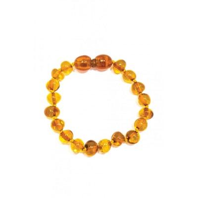 8f52d6b4336 Bracelet d ambre baroque pour bébé avec Fermoir Sécurité Bracelet d ambre  baroque pour