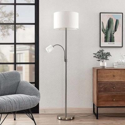 Lampadaire Trepied 'Benik' en textile pour salon & salle à
