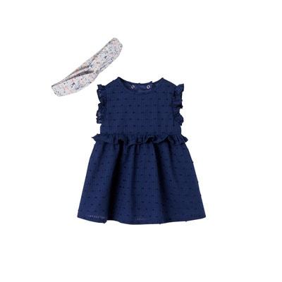 fd3878c19193d Ensemble bébé fille robe + bandeau VERTBAUDET