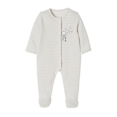 34eba7050fd68 Lot de 2 pyjamas bébé en molleton imprimé pressionnés dos VERTBAUDET