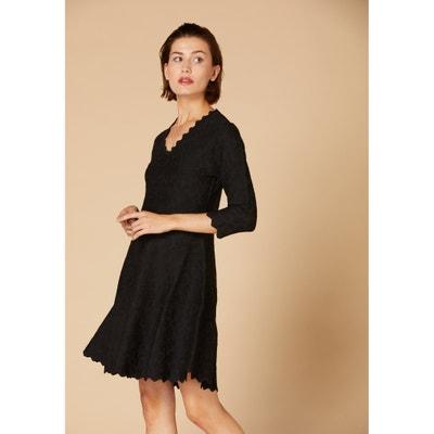 Korte, wijd uitlopende jurk Nevers met 3/4 mouwen Korte, wijd uitlopende jurk Nevers met 3/4 mouwen DERHY