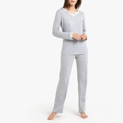 c0adfe0433b Pyjama met lange mouwen en kanten details LA REDOUTE COLLECTIONS