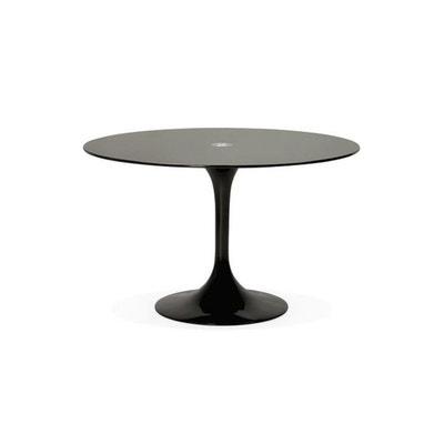 Table à Manger En Verre Noir ALABAMA DECLIKDECO 2cf0b96cb8a4