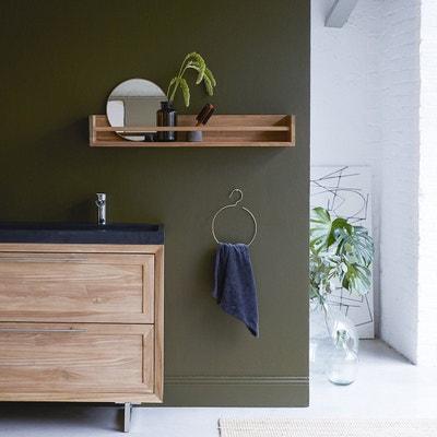 Tablette salle de bain bois | La Redoute