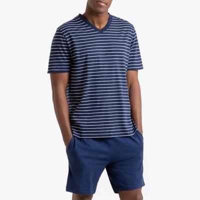 Pyjashort met korte mouwen en V-hals Pyjashort met korte mouwen en V-hals LA REDOUTE COLLECTIONS
