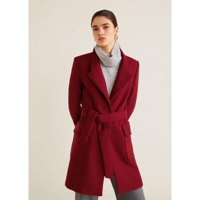 Manteau en laine avec ceinture Manteau en laine avec ceinture MANGO 541570b200c