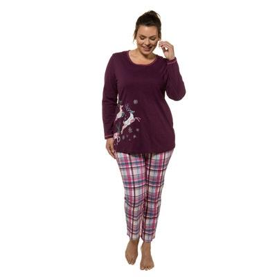bf940cb750d58 Grande Taille. Pyjama imprimé manches longues pur coton ULLA POPKEN