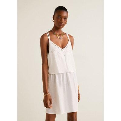 9110e7560f9 Robe blanche bretelle