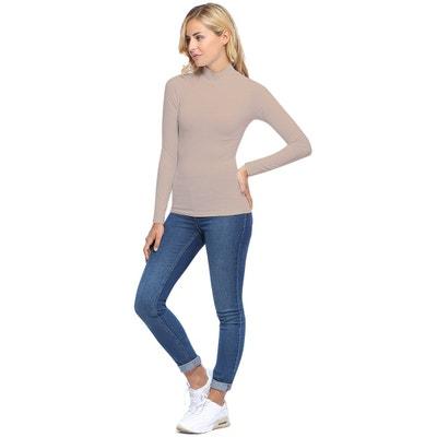 31cb70963d Tee-shirt col montant manches longues en modal PENNY05 Tee-shirt col  montant manches. (0). RENDEZ-VOUS PARIS