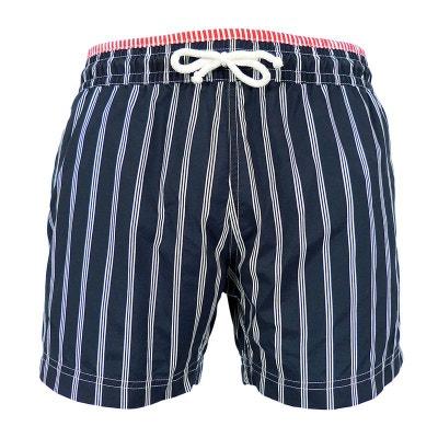 Maillot Short de bain homme New Jim - Triple rayures bleu marine LES  LOULOUS DE LA 4a7686ee81a