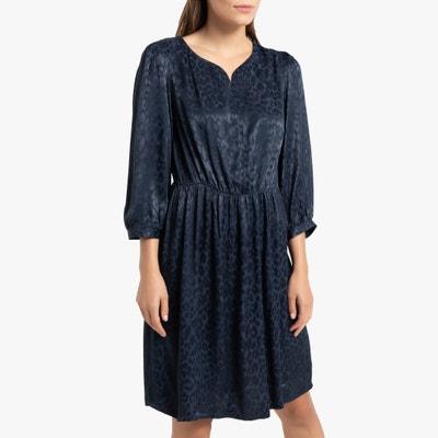 Bedrukte korte jurk met 3/4 mouwen Bedrukte korte jurk met 3/4 mouwen LA REDOUTE COLLECTIONS