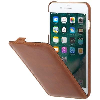 Etui iPhone 8 Plus 7 Plus ultraslim cognac en cuir véritable - Stilgut  STILGUT 60789b3d0cb
