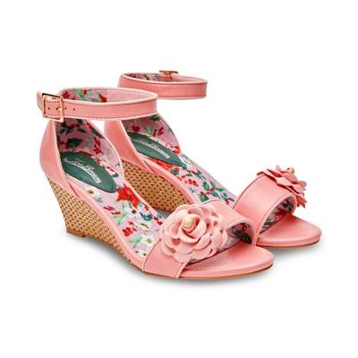 fafd8acb2119ca Chaussures a semelles compensees avec fleurs JOE BROWNS