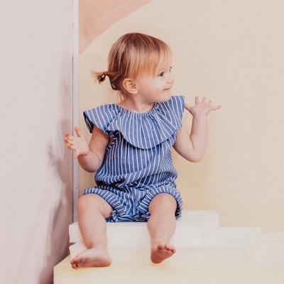 fd4397c9805d3 Barboteuse bébé à rayures 0 mois-3 ans Barboteuse bébé à rayures 0 mois-