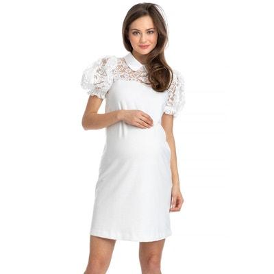 Montecarlo robe de grossesse ponte à manches ballon Montecarlo robe de  grossesse ponte à manches ballon 83b6e918270