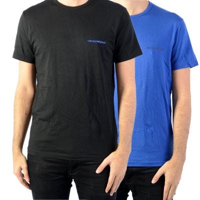 Lot de 2 tee-shirts col rond en coton stretch et Lot de 2 tee. Soldes. EMPORIO  ARMANI 55d9cffe74b