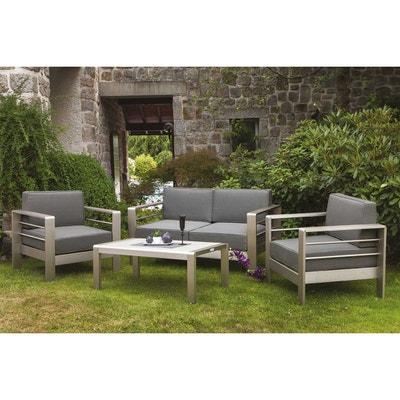 Salon de jardin aluminium gris | La Redoute