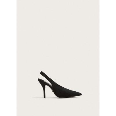 0084edfc912b07 Chaussures cuir ouvertes à l'arrière VIOLETA BY MANGO