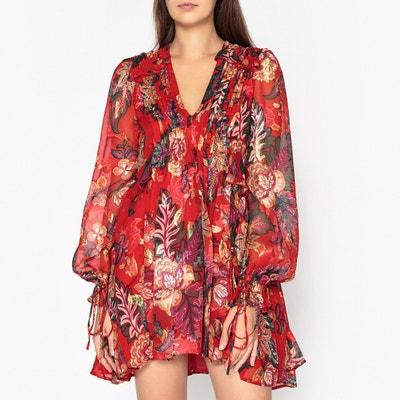 57742ea9348 Платье короткое расклешенное с длинными рукавами THE KOOPLES